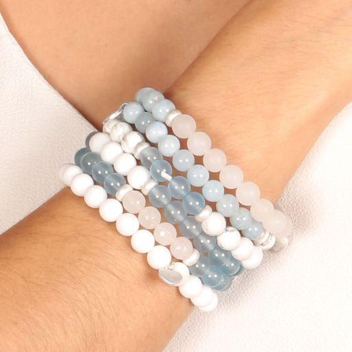 Life Charms - AC06 - Arm Candy Bracelets - edelstenen - Aqua