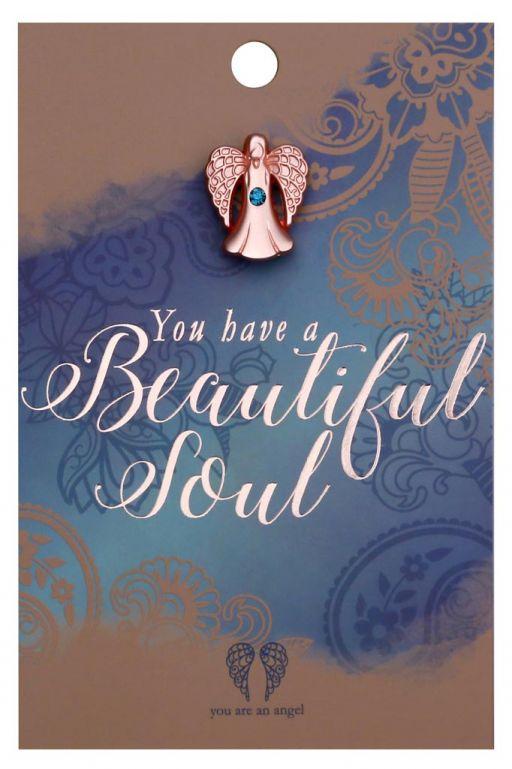 120725 - You are an Angel - ANCP025 - Kaartje met engeltje op pin - beautiful Soul