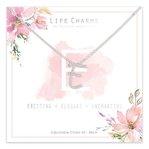483005- Life Charms - ANE - Collier - letter E
