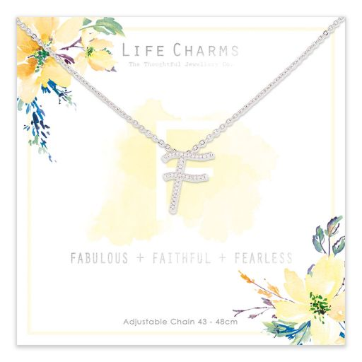 483006- Life Charms - ANF - Collier - letter F