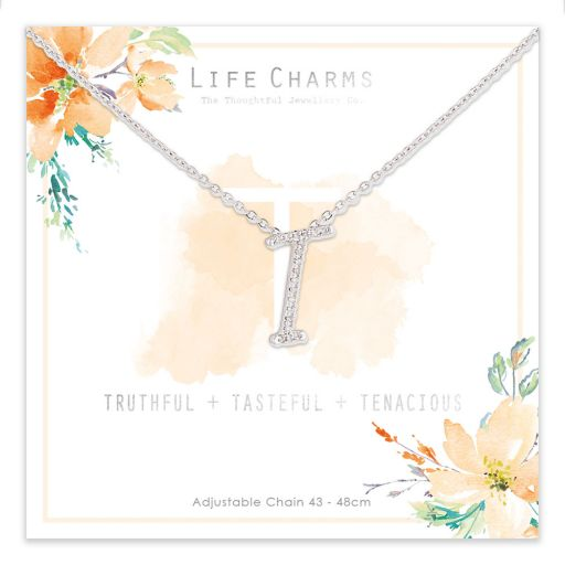 483020- Life Charms - ANT - Collier - letter T