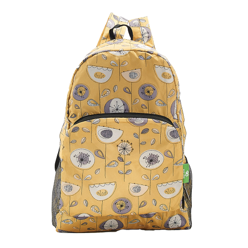 Eco Chic - Backpack - B17MD - Mustard 1950's Flower