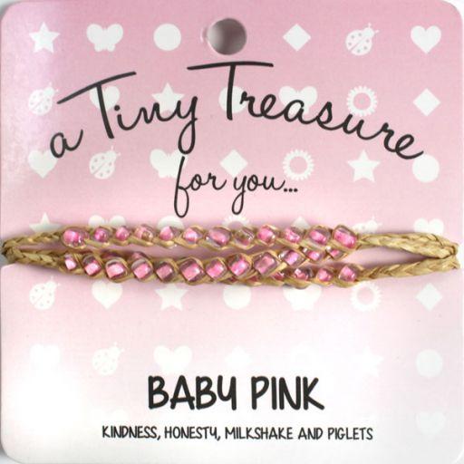 Tiny Treasure armband - Baby Pink