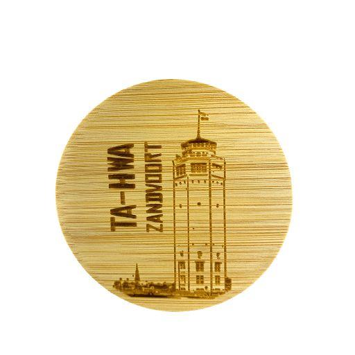 Bamboe deksel - Zandvoort - Watertoren met naam Ta_HWA