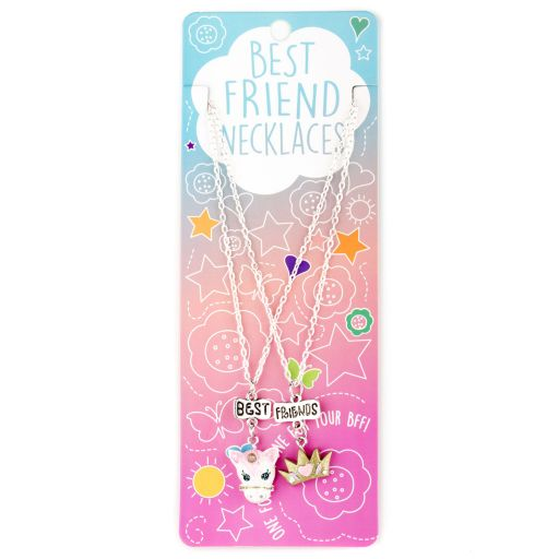 Best Friend Necklace - Ketting - Unicorn/Crown - BFN01