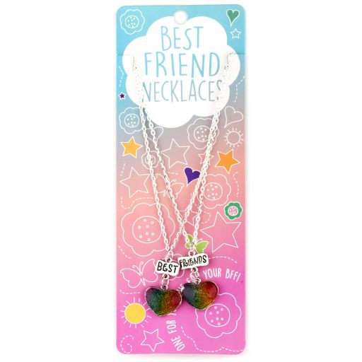 Best Friend Necklace - Ketting - Hartje multi colour - BFN03