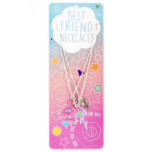 Best Friend Necklace - Ketting - Flamingos - BFN14