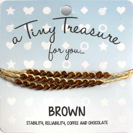Tiny Treasure armband - Brown