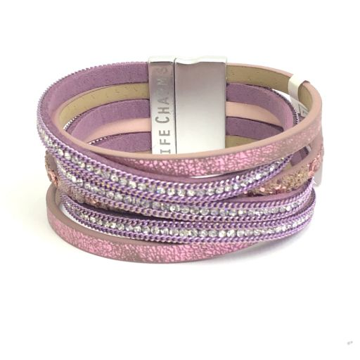 480314 - Life Charms - BT14 - 6 Row Mulberry Wrap bracelet