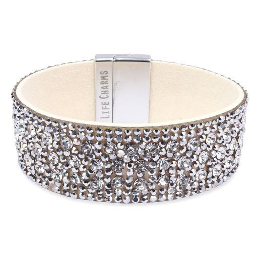480320 - Life Charms - BT20 - Wrap Bracelet Cream-Silver Diamant