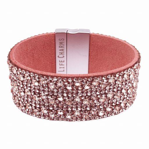 480328 - Life Charms - BT28 - Rose Gold Zirkonia Wrap Bracelet