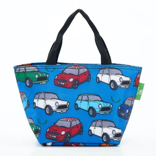 Eco Chic - Cool Lunch Bag - C01BU - Blue Cars