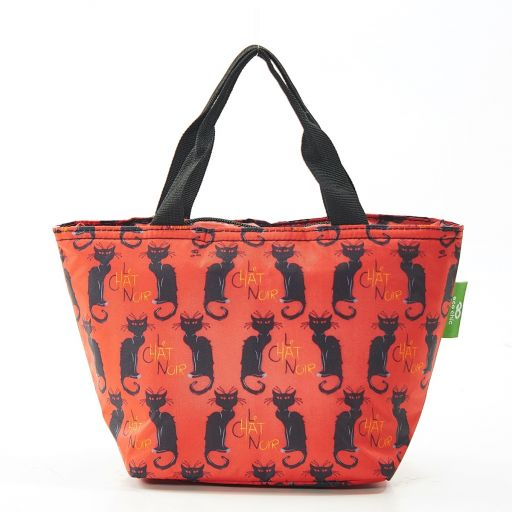 Eco Chic - Cool Lunch Bag - C03BY - Burgundy Le Chat Noir