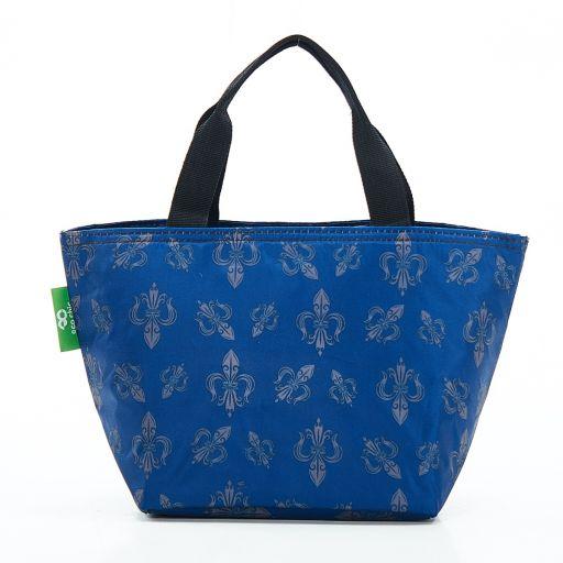 Eco Chic - Cool Lunch Bag - C05BU - Blue Fleur de Lys