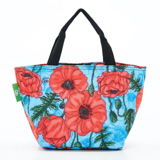 Eco Chic - Cool Lunch Bag - C09BU - Blue Poppies
