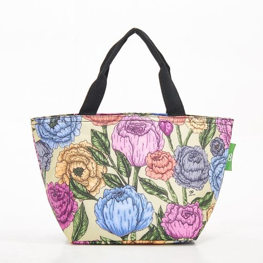 Eco Chic - Cool Lunch Bag - C11GN - Green Peonies