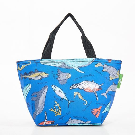 Eco Chic - Cool Lunch Bag - C12BU - Blue Sea Creatures