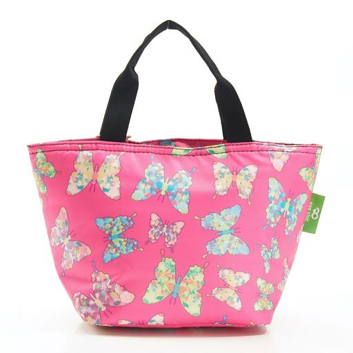 Eco Chic - Cool Lunch Bag - C15FA - Fuchsia Butterfly