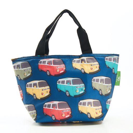 Eco Chic - Cool Lunch Bag - C26TL - Teal Camper Vans