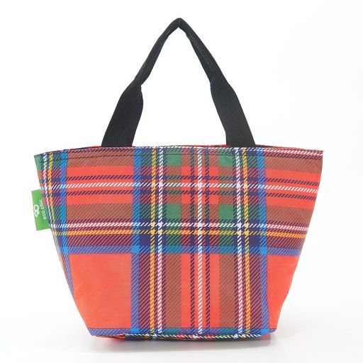 Eco Chic - Cool Lunch Bag - C30RD - Red Tartan
