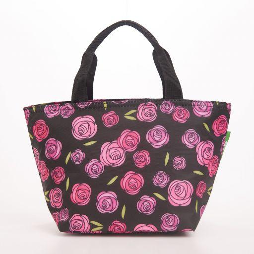 Eco Chic - Cool Lunch Bag - C31BK - Black Macintosh Rose