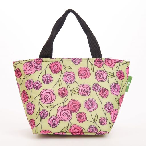 Eco Chic - Cool Lunch Bag - C31GN - Green Macintosh Rose