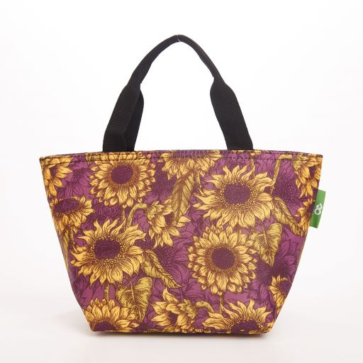 Eco Chic - Cool Lunch Bag - C33PP - Purple Sunflower