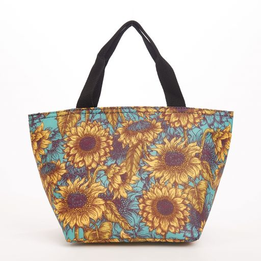 Eco Chic - Cool Lunch Bag - C33TL - Teal Sunflower