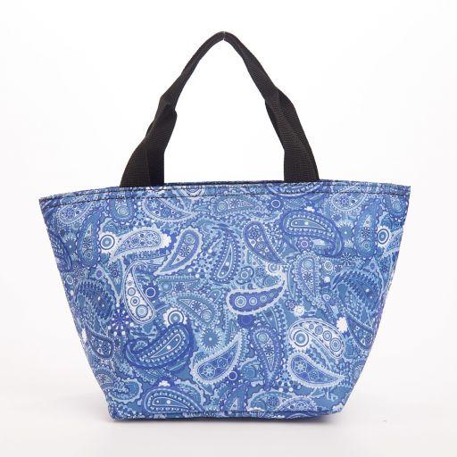 Eco Chic - Cool Lunch Bag - C35BU - Blue Paisley