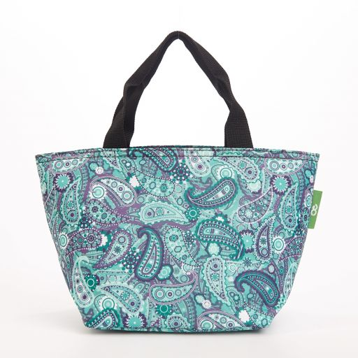 Eco Chic - Cool Lunch Bag - C35GN - Green Paisley