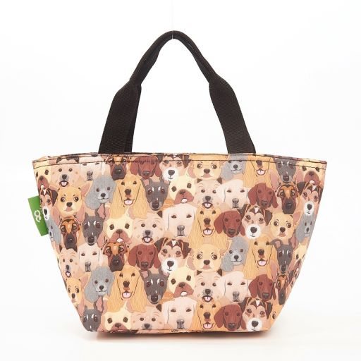 Eco Chic - Cool Lunch Bag - C36BG - Beige Dogs