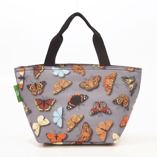 Eco Chic - Cool Lunch Bag - C37GY - Grey Wild Butterflies