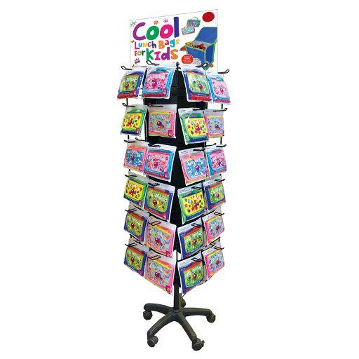 Vloerdisplay gevuld Cool Lunch Bags - voor kids - 24 x 4 stuks
