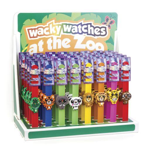 Tafeldisplay Gevuld - Wacky Watches - Wildlife - 40 stuks