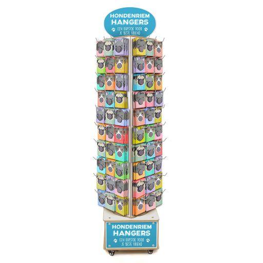 Gevulde Display - hout - Hondenriem hangers 120 x 3 stuks