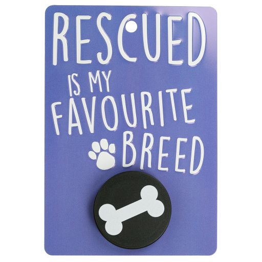 Hondenriemhanger (Pooch Pal) - DL4 - Rescued is My Favourite Breed