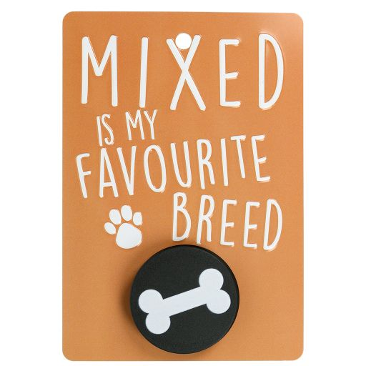 Hondenriemhanger (Pooch Pal) - DL5 - Mixed is My Favourite Breed