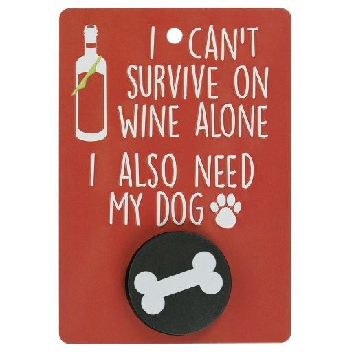 Hondenriemhanger (Pooch Pal) - DL23 - I Can't Survive On Wine Alone
