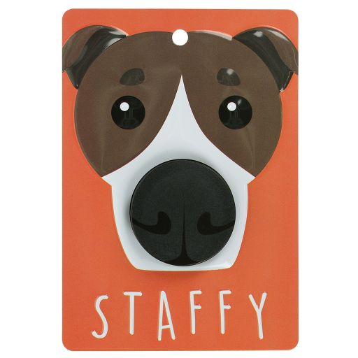 Hondenriemhanger (Pooch Pal) - DL111 - Staffy - Brown and White