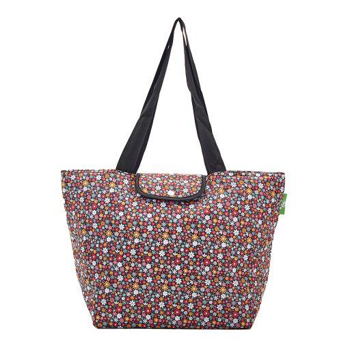 Eco Chic - Large Cool Bag - E01BK - Black - Ditsy