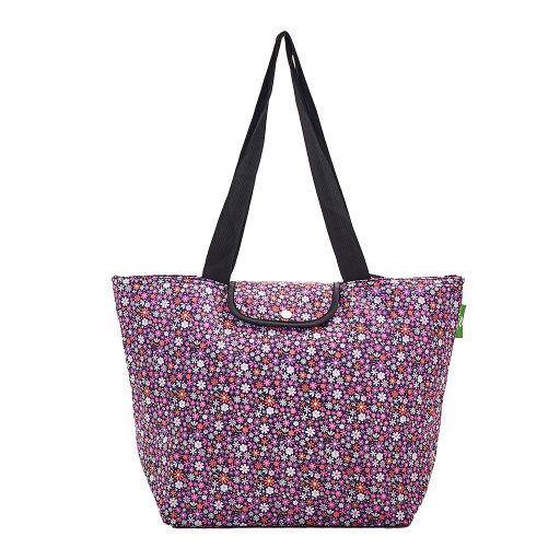Eco Chic - Large Cool Bag - E01BPP - Purple - Ditsy