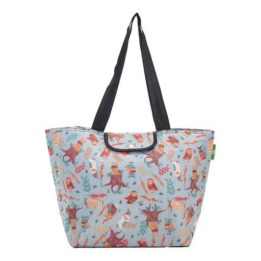Eco Chic - Large Cool Bag - E03BU - Blue - Owl