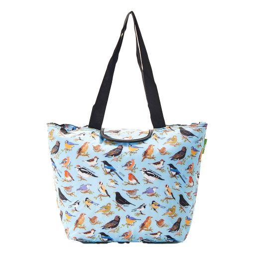 Eco Chic - Large Cool Bag - E08BU - Blue - Wild Birds