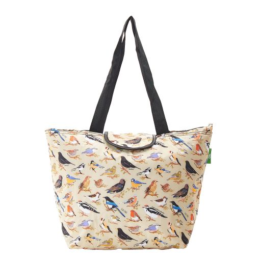 Eco Chic - Large Cool Bag - E08GN - Green - Wild Birds
