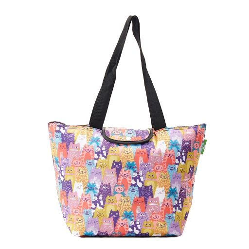 Eco Chic - Large Cool Bag - E10ME - Multiple - Stacking Cat