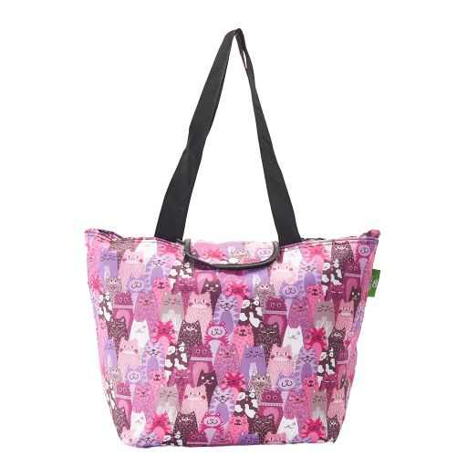 Eco Chic - Large Cool Bag - E10PP - Purple - Stacking Cat