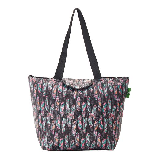 Eco Chic - Large Cool Bag - E11BK - Black - Feather