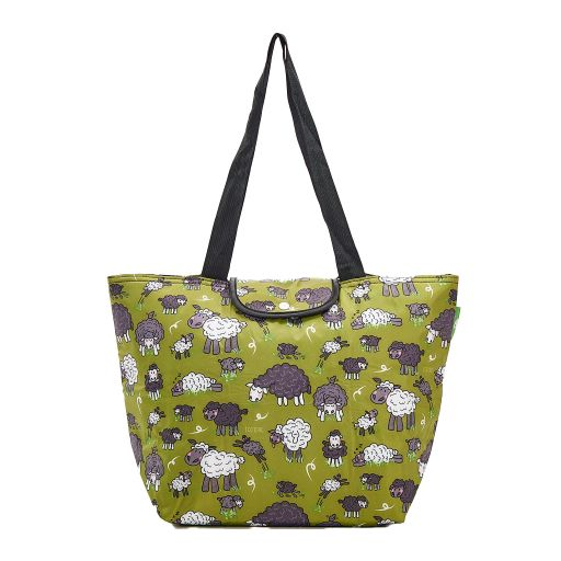 Eco Chic - Large Cool Bag - E13GN - Green - Sheep