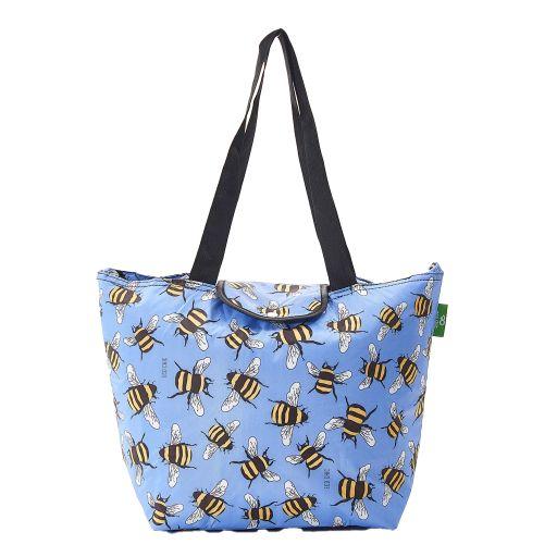 Eco Chic - Large Cool Bag - E14BU - Blue - Bees