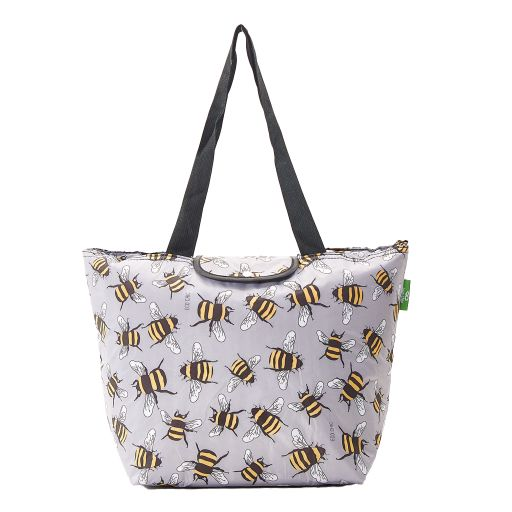 Eco Chic - Large Cool Bag - E14GY - Grey - Bees